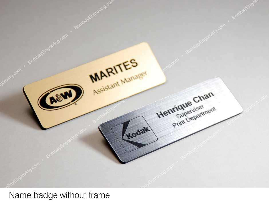 Engraved Name Badge In A Tradional